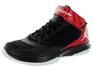 a6ba6208e5318a Nike Jordan Mens Jordan BCT Mid 3 Black White Gym Red Basketball Shoe 11