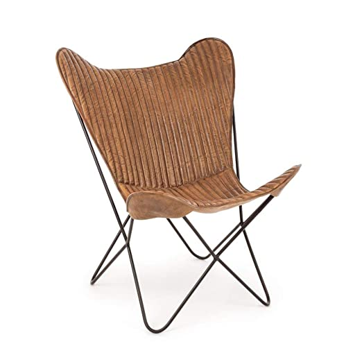 ARREDinITALY - Juego de 2 sillones con Estructura de Acero y ...