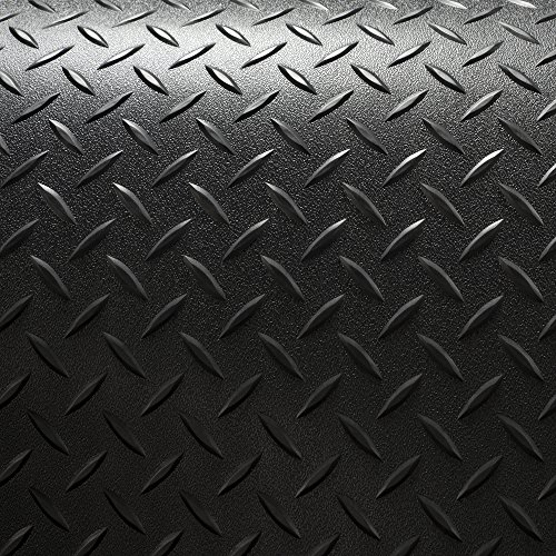 RV Trailer Diamond Plate Pattern Flooring | Black | 8' 2'' Wide | Rubber Flooring | Garage Flooring | Gym Flooring | Toy Hauler Flooring | Car Show Trailer Flooring (Black, 10') by RecPro (Image #3)