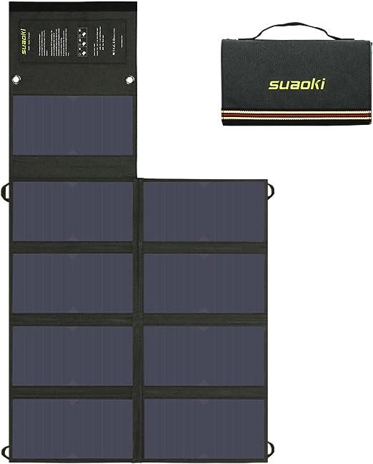Amazon.com: SUAOKI 60W Cargador Solar (5 V USB + 18 V DC ...