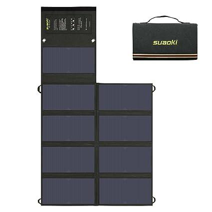 Amazon.com: SUAOKI 60W Solar Charger (5V USB + 18V DC) Dual ...