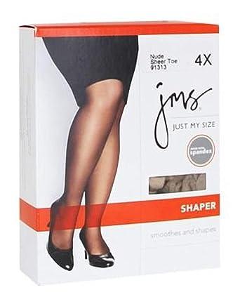 07c4c4f82ad13 Amazon.com: JMS Women's Great Fit Smoothes Silky Leg Sleek Sheer Toe Shaper  Panty Hose: Clothing