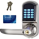 HAIFUAN Left Hand Electronic Keyless Code Door Lock,Unlock With Code, Mifare, And Mechanical Key