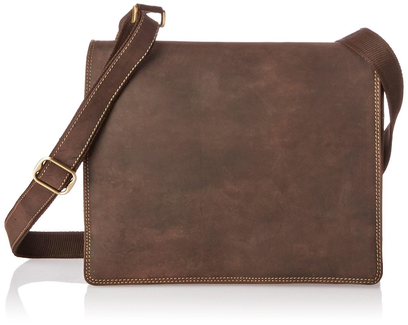 Visconti Harvard Distressed Leather Messenger Bag, Tan, One Size