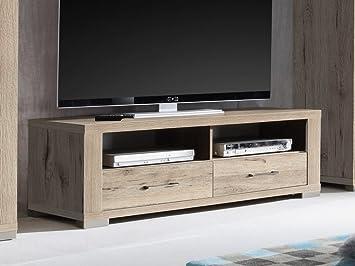 Unbekannt Lowboard Tv Schrank Fernsehschrank 134cm Dekor Sandeiche