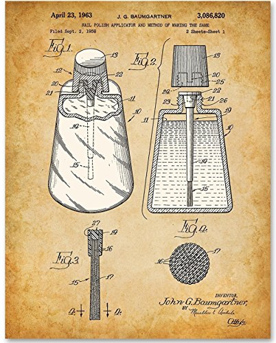 Nail Polish Applicator - 11x14 Unframed Patent Print - Great Gift for Bathroom Decor (Poster Polish)