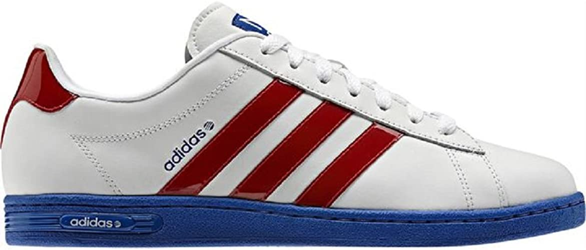 adidas Mens Trainers Neo Derby II Leather Red White Blue UK