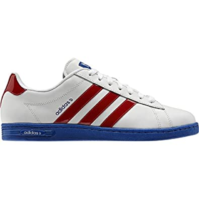 Mens Adidas Trainers Neo Derby II Leather Red White Blue UK Size 7 EU 40.5  NEW  Amazon.co.uk  Shoes   Bags 1488bd042
