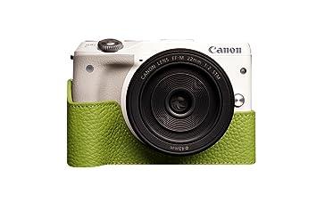 48ff70c3d78b Amazon | TP Canon キャノン EOS M3 用本革カメラケース 各種カラー ...