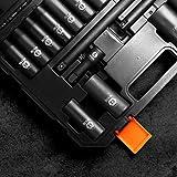 TACKLIFE Drive Impact Socket Set, 18pcs 1/2-inch