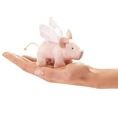 Folkmanis Mini Winged Piglet Finger Puppet: Toys & Games
