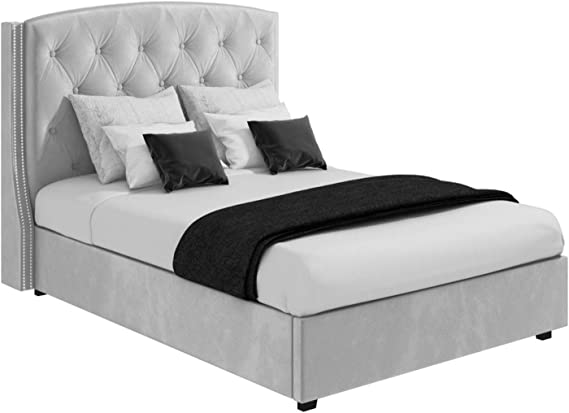 Safina King Size Wing Back Ottoman Bed