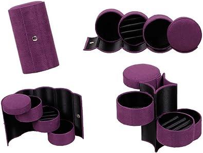 boite bijoux voyage cylindre compartiments