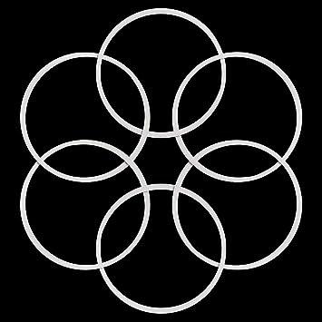 CHIMAKA Reemplazo de las juntas tóricas de goma del sello blanco ...