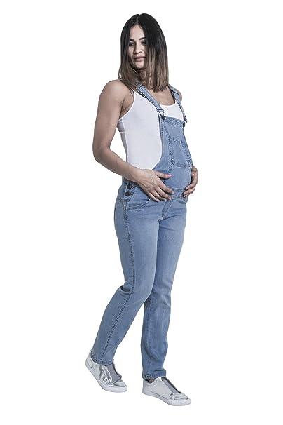 5a6d848bd Wash Clothing Company Grace Peto de Premamá - Luz Azul Peto Vaquero de  Embarazo Peto Mujer GRACEPW  Amazon.es  Ropa y accesorios