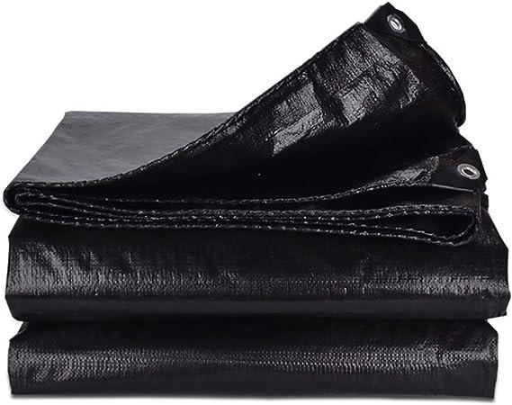 Lona Negro Impermeable Tela de Lona de Lona de poliéster for pérgola Exterior Cubierta Toldo Plegable Resistente con Ojales 160 G (Size : 10mx12m): Amazon.es: Hogar