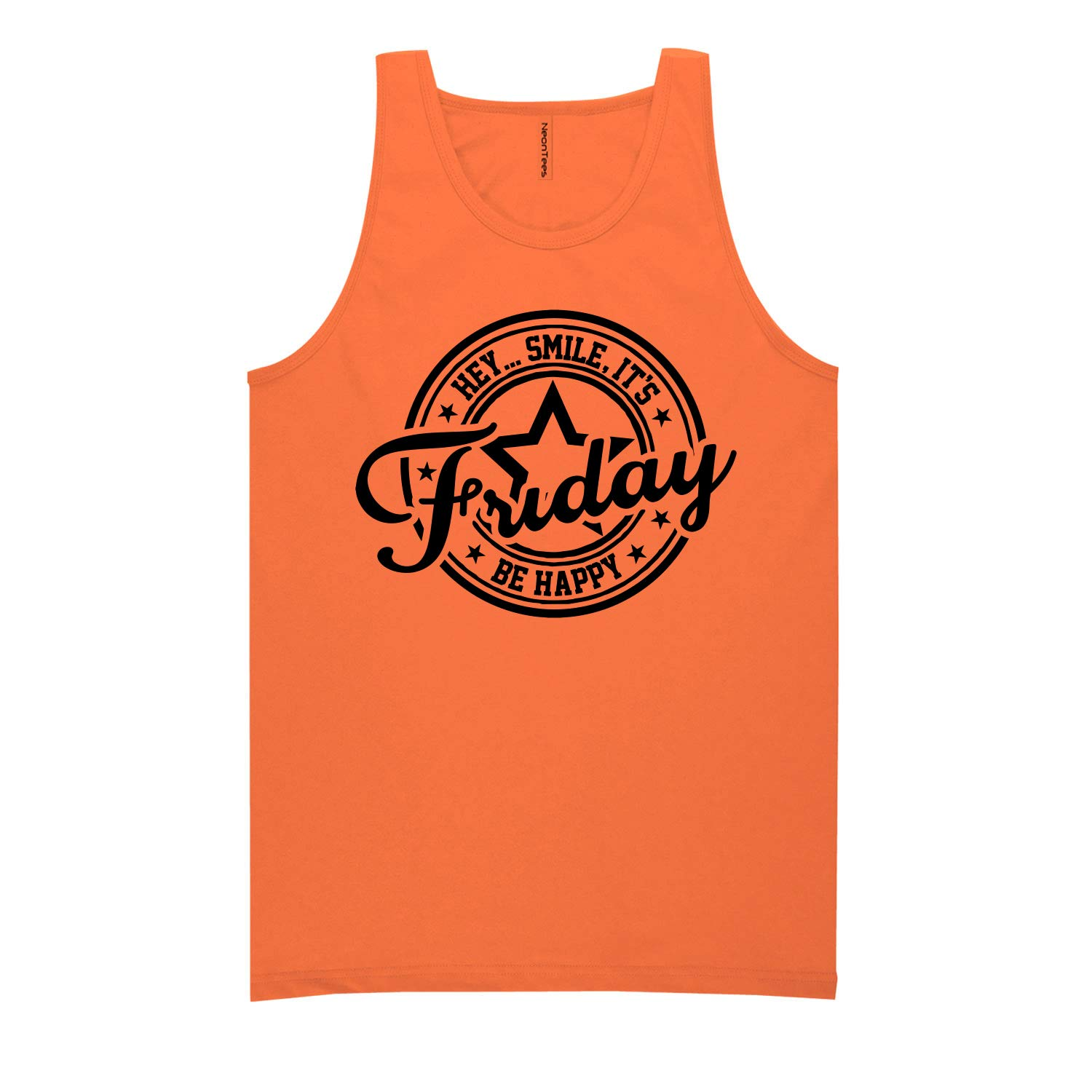 ZeroGravitee Hey Smile Its Friday Be Happy Neon Tank Top