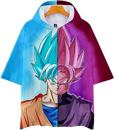 Dragon Ball Camiseta con Capucha de Manga Corta 3D Impresas ...