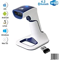 ScanAvenger Wireless Portable 1D With Stand Bluetooth Barcode Scanner: 3-in-1 Hand Scanners -Vibration, Cordless…