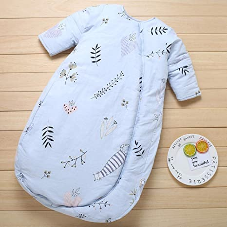 100% algodón orgánico lindo saco de dormir para bebés manga larga ...