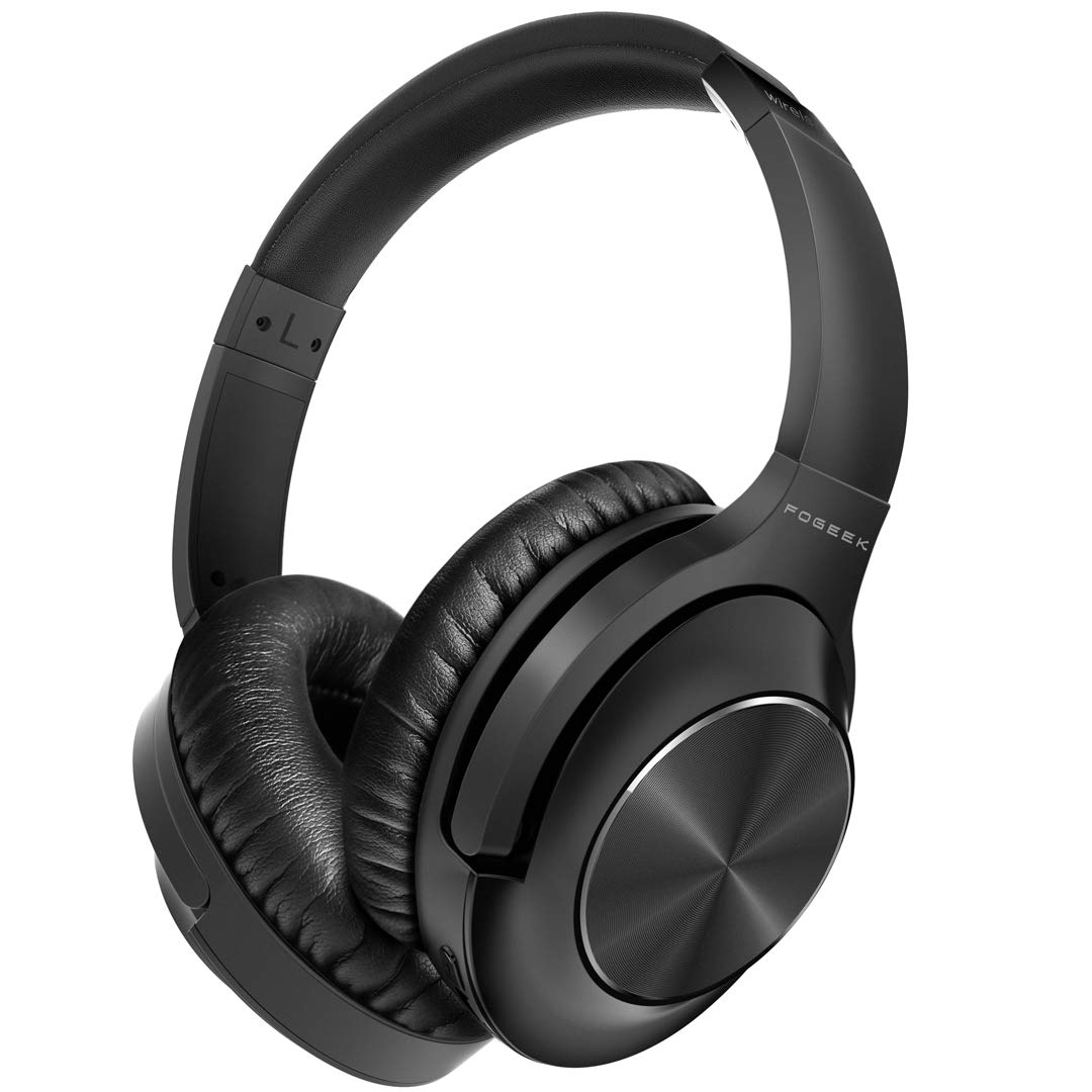 Active Noise Cancelling Headphones,Fogeek Apollo 1 Bluetooth Headphones Over Ear with Mic Deep Bass Hi-Fi Sound, Comfortable Protein Earpads, Wireless Headphones for Traveling Sporting TV PC Cellphone