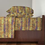 Roostery Africa 3pc Sheet Set African Stripes On Sepia by Kociara Twin Sheet Set made with