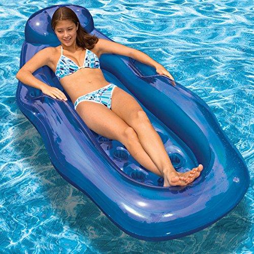 Riviera Center (Poolmaster Blue Riviera Wet/Dry Sun Lounge)