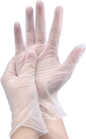 Disposable Clear Vinyl Exam Medical Gloves 4 MIL Non Sterile Powder Free Case of 100 Pack Ambidextrous Latex Free X-Large