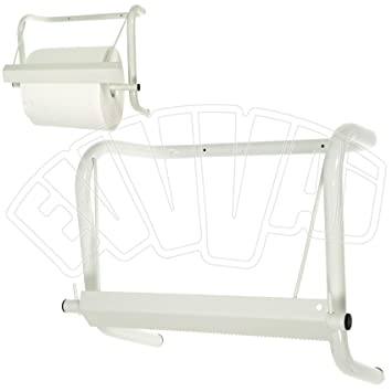 Soporte dispensador de pared, para bobina de papel industrial: Amazon.es: Jardín