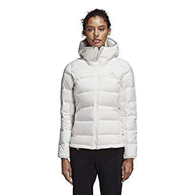 32bf6ae5a9a5 adidas Sport Performance Women s W Helionic Hooded Jacket at Amazon Women s  Coats Shop