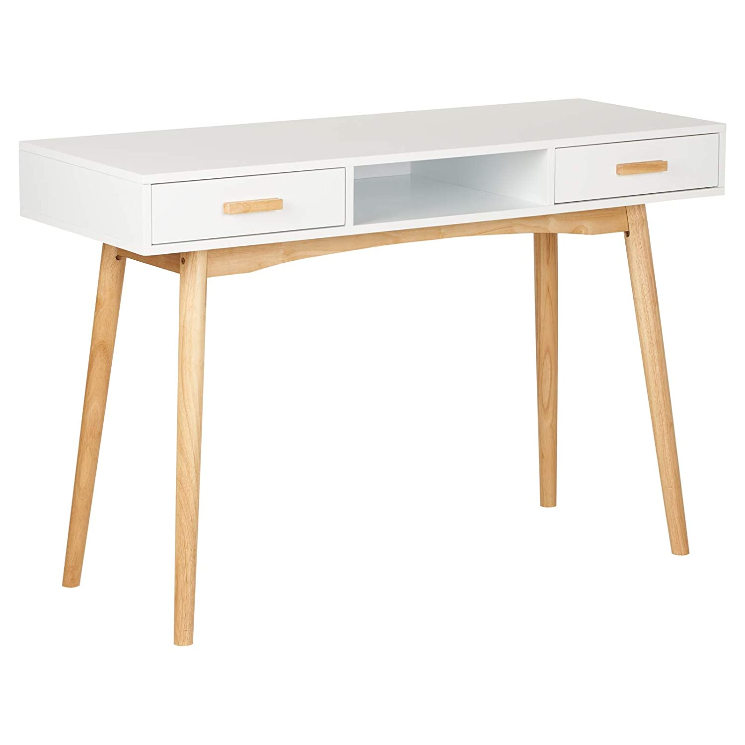 Hartleys Home Office White Retro Desk