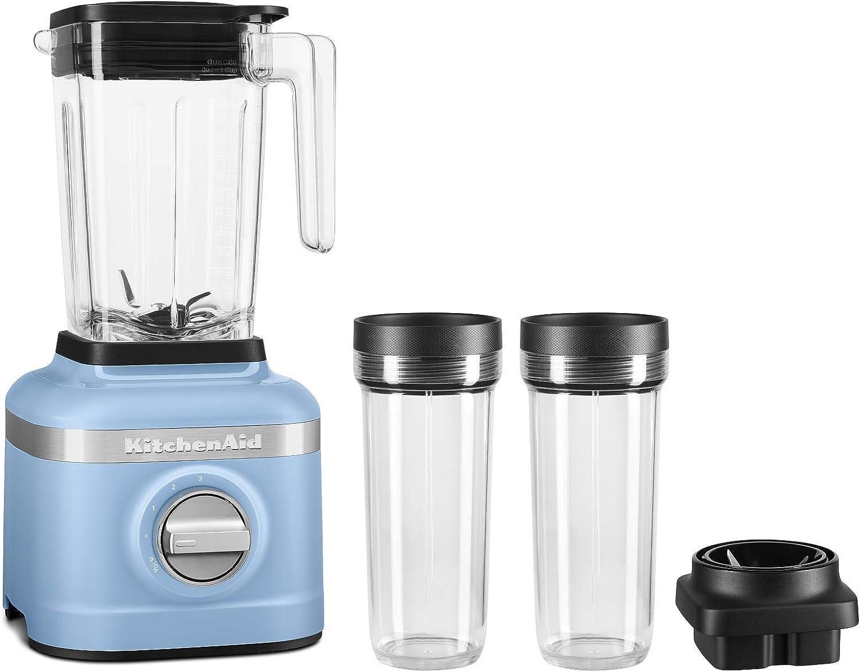 KitchenAid KSB1332VB 48oz, 3 Speed Ice Crushing Blender with 2 x 16oz Personal Jars to Blend and Go, Velvet Blue
