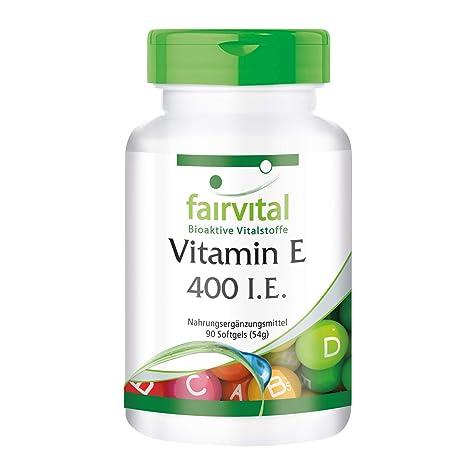 Vitamina E 400 UI - Bote para 3 meses - Alta dosificación - 90 cápsulas blandas