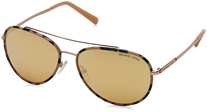 Womens Ida 11657J Sunglasses, Pink Tortoise/Rose Gold-Tone/Liquidrosegold, 59 Michael Kors