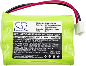 Cameron Sino Standard 3.6V/700mA Replacement Battery for GE 27931GE5, 27931GE6, 27931GE7, 27935, 27935GE3, 27935GE3B, 27936, 27936GE3, 27938GE1, 27939GE3, 27980, 27990
