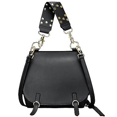 b6278fad2c81 Amazon.com  S-ZONE Women s Leather Handbags Purse Shoulder Crossbody ...