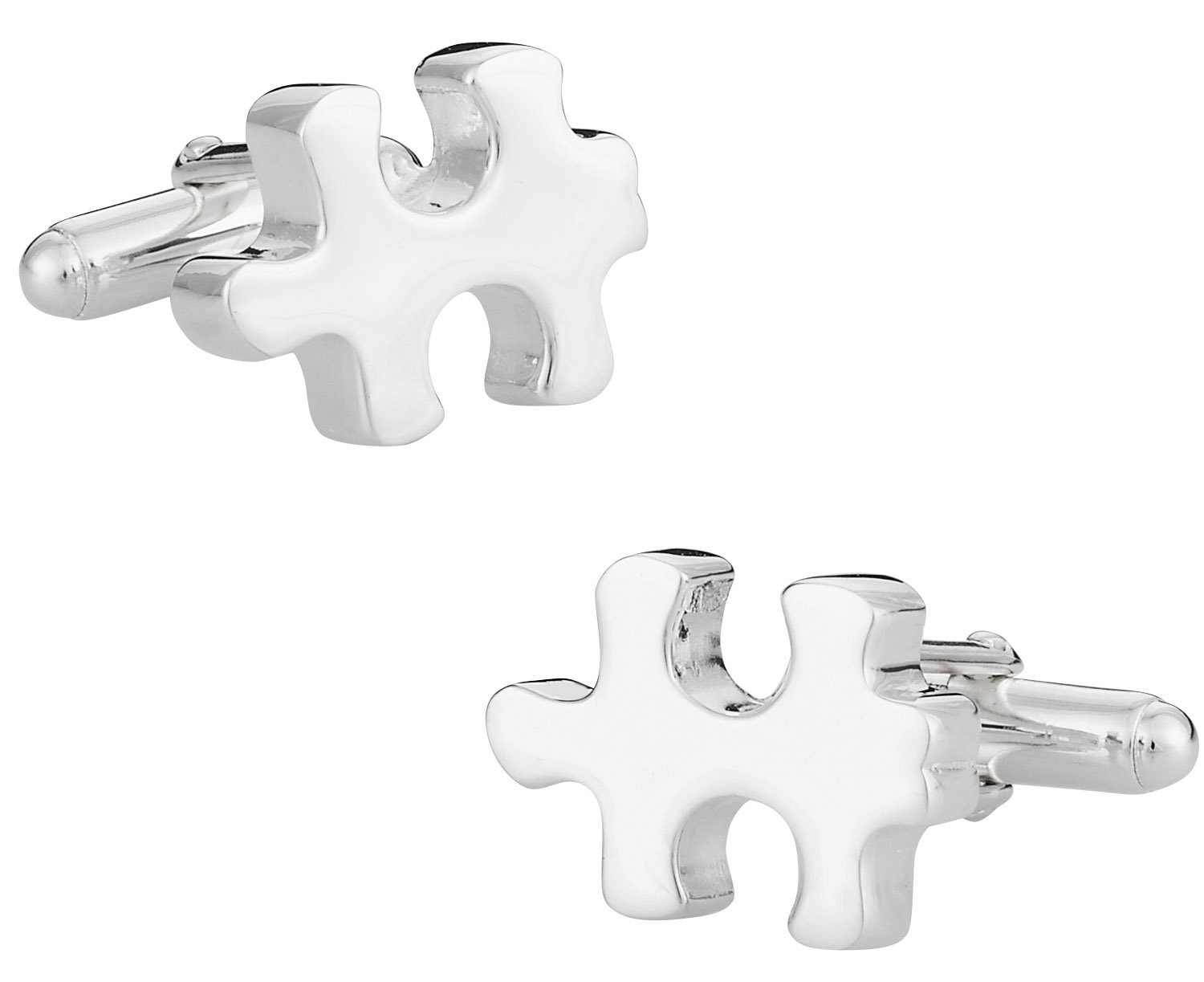925 Sterling Silver Puzzle Piece Cufflinks by Cuff-Daddy by Cuff-Daddy