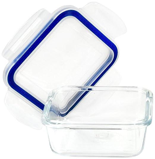 Borosilicato microondas y horno de cristal cuadrado recipiente ...