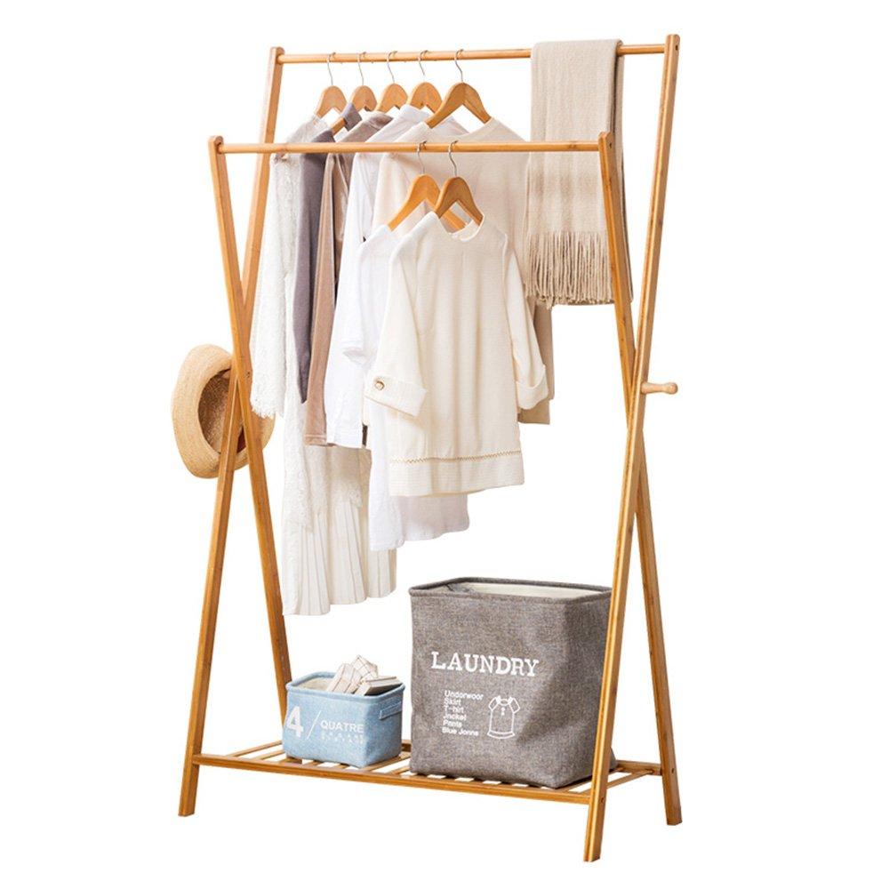 L52cm TY BEI Coat Rack Wooden Coat Rack,Hanger Hanger Floor-Standing Coat Rack Floor-Mounted Clothes Rack Solid Wood Simple Hanger Bedroom Clothes Rack Simple and Modern Three Sizes @@ (Size   L52cm)