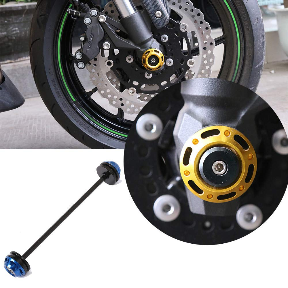 Amazon.com: Motorcycle CNC Aluminum Front axle Fork Body ...