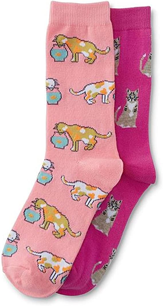 Girls Fun Sports Crew Socks Crazy Colorful Socks
