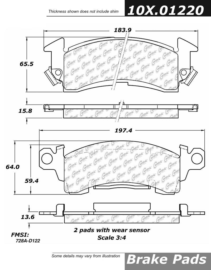 centric 102.01220 Ctek Brake Pads