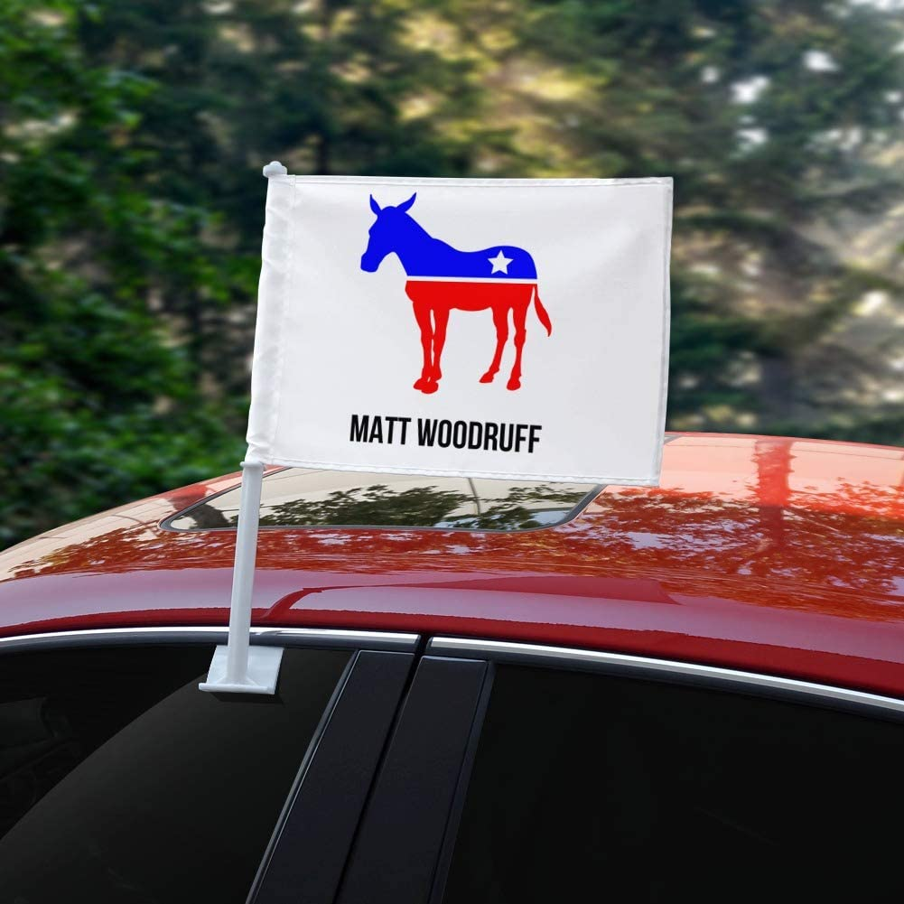 GRAPHICS /& MORE Personalized Custom 1 Line Democrat Donkey American Car Truck Flag with Window Clip On Pole Holder