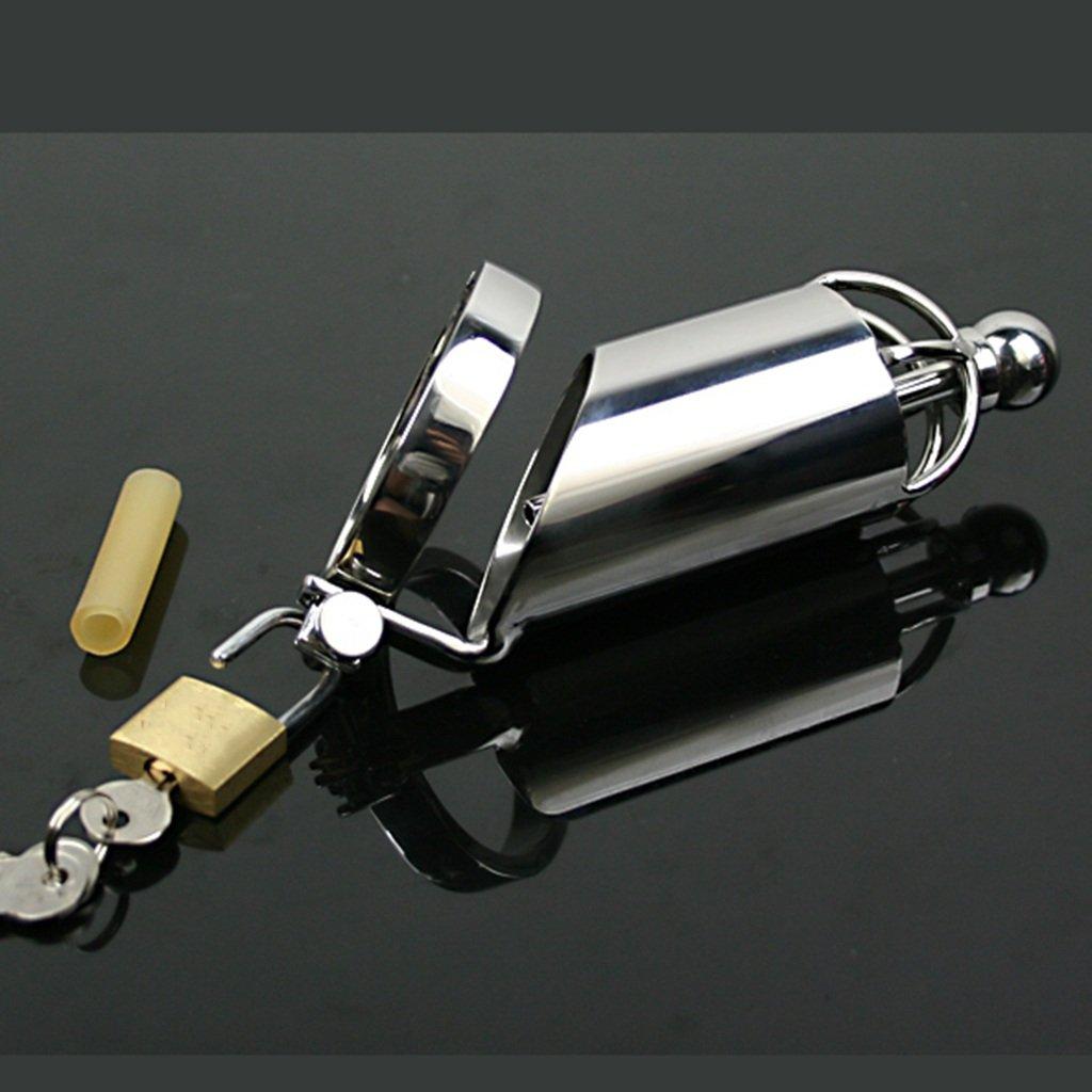 Juguete Sexual Jaula del Pene Masculino de Acero Inoxidable Inoxidable Inoxidable de Metal de Metal de Plata Chastity Lock Lock Dispositivo de Castidad (Tamaño : 50.8mm) e6e132
