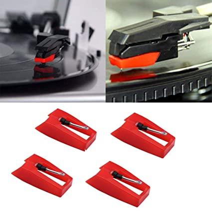 Amazon.com: 4PCS Record Player Needle, Turntable Replacement ...
