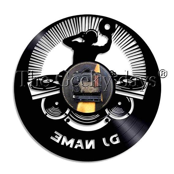 HDNFW Reloj de Pared 1 Unidad DJ Deejay Álbum Disco de Vinilo ...
