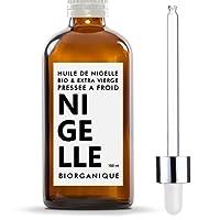 Huile de Nigelle 100% Bio, Pure et Naturelle - 100 ml - Soin pour Cheveux, Cuir chevelu, Corps, Peau