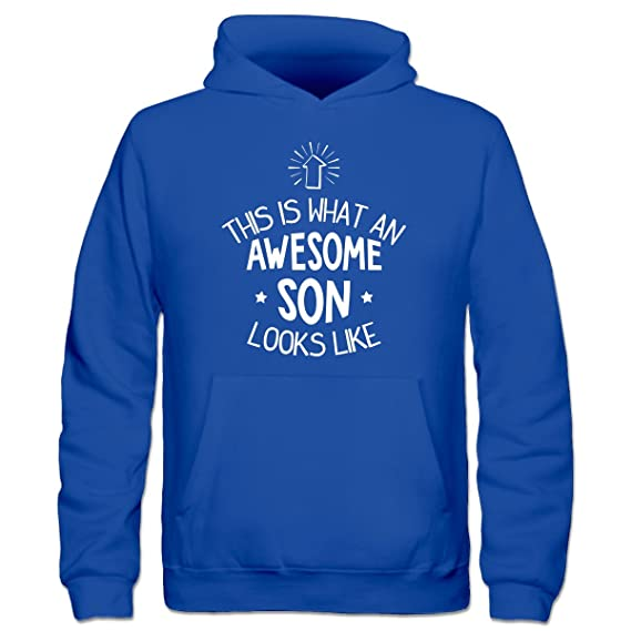 Sudadera con capucha niño This Is What An Awesome Son Looks Like by Shirtcity: Amazon.es: Ropa y accesorios