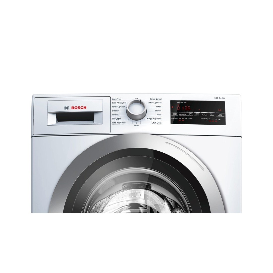 Amazon.com: Bosch WAT28401UC 500 2.2 Cu. Ft. White Stackable Front Load  Washer - Energy Star: Appliances