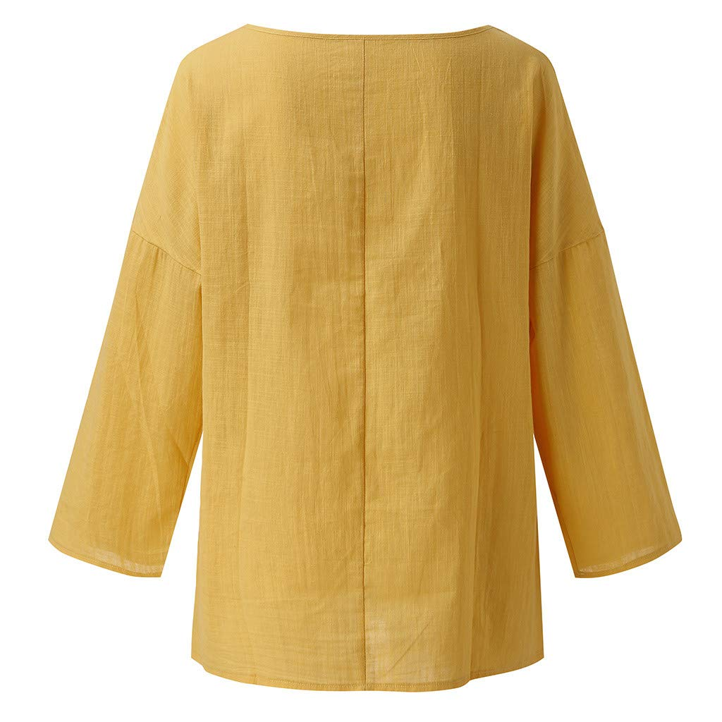 Women New Look Long Sleeve O-Neck Casual Loose Blouse Tops Shirt Blouse T-Shirt Basic Tee Shirts Loose Fit Tunic Tops Blouses S Women Blouse Sale Shirts 4XL